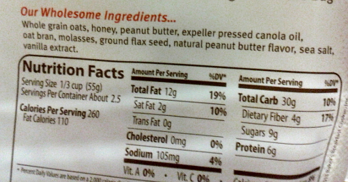 Peanut ingredient label | When Peanuts Attack