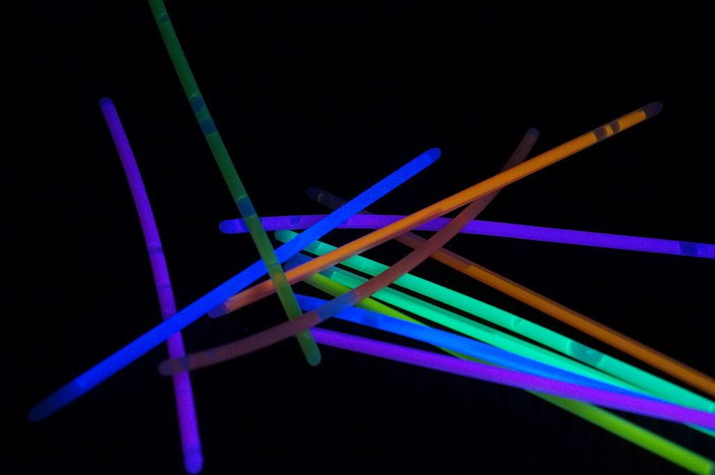Teal Pumpkin treats: glow sticks