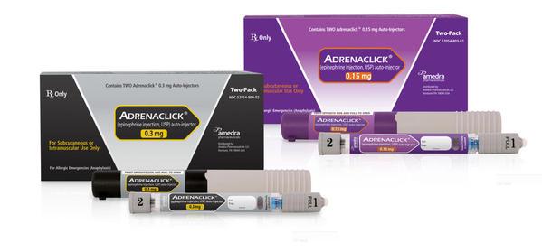Adrenaclick brand name epinephrine autoinjectors